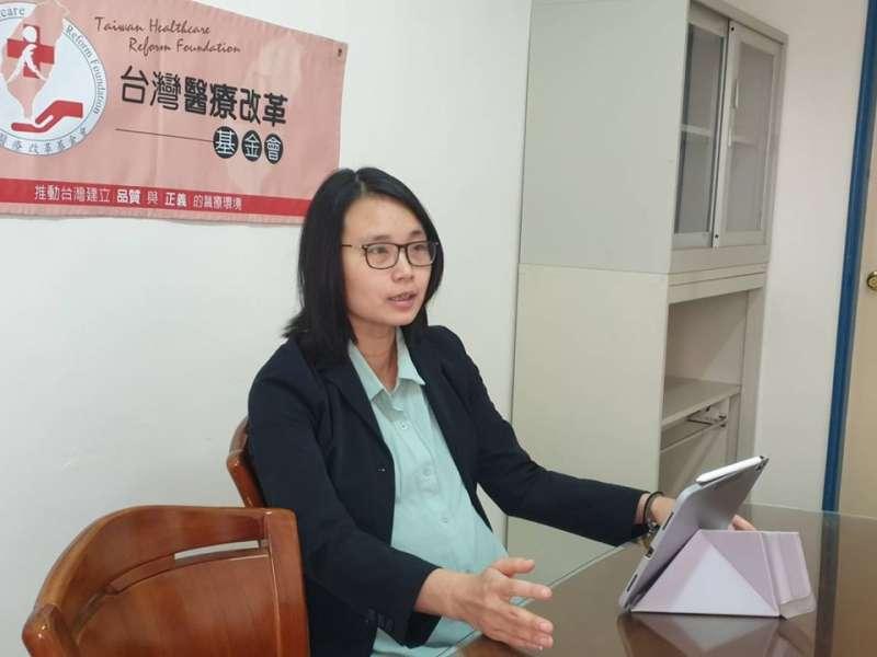 台灣醫療改革基金會副執行長林雅惠表示,會持續關注醫材重處理草案審核是否符合規範,同時認為主管機關應主動提出稽查量能。