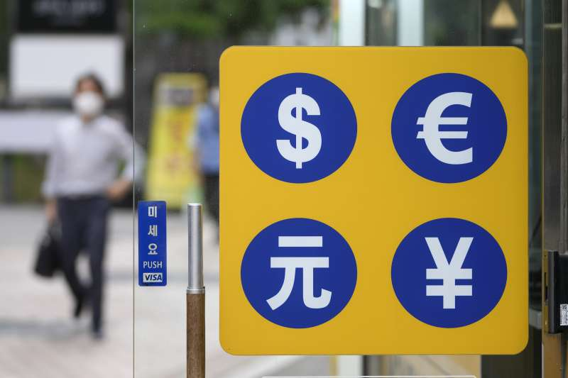 換匯、匯率、外匯、日圓、美元、人民幣、歐元。(美聯社)