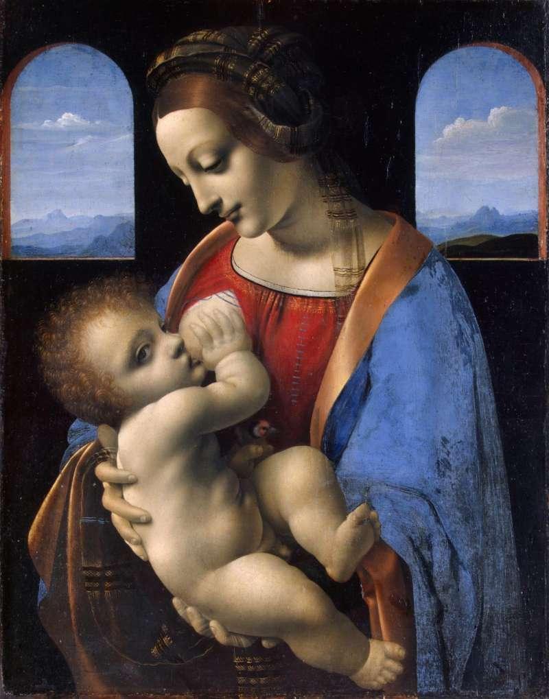 達文西 聖母子 The Madonna and Child (The Litta Madonna) (圖/取自於The Value)