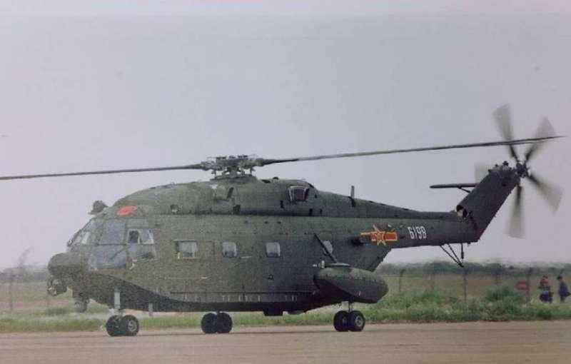 20210828-共軍直-8直升機(空軍司令部提供 )