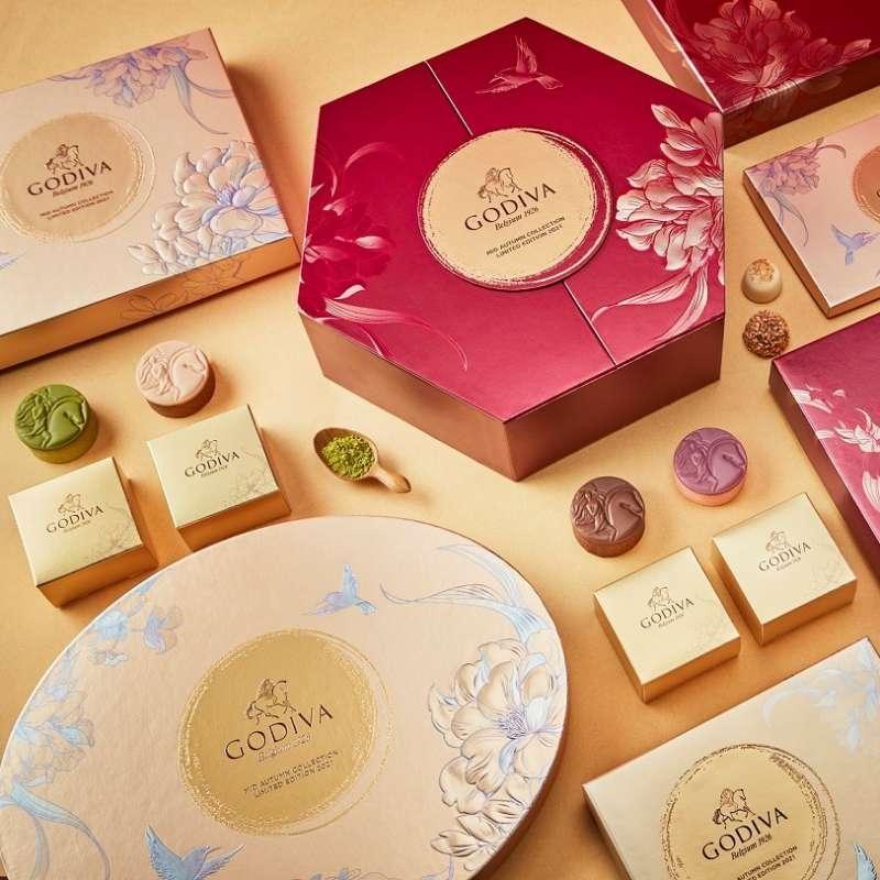 中秋節巧克力禮盒18顆裝(圖 / GODIVA Chocolatier Asia 臉書)