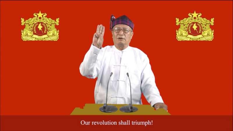緬甸影子政府「民族團結政府」代理總統杜瓦拉希拉(Duwa Lashi La)7日上午正式對緬甸國防軍宣戰。(AP)