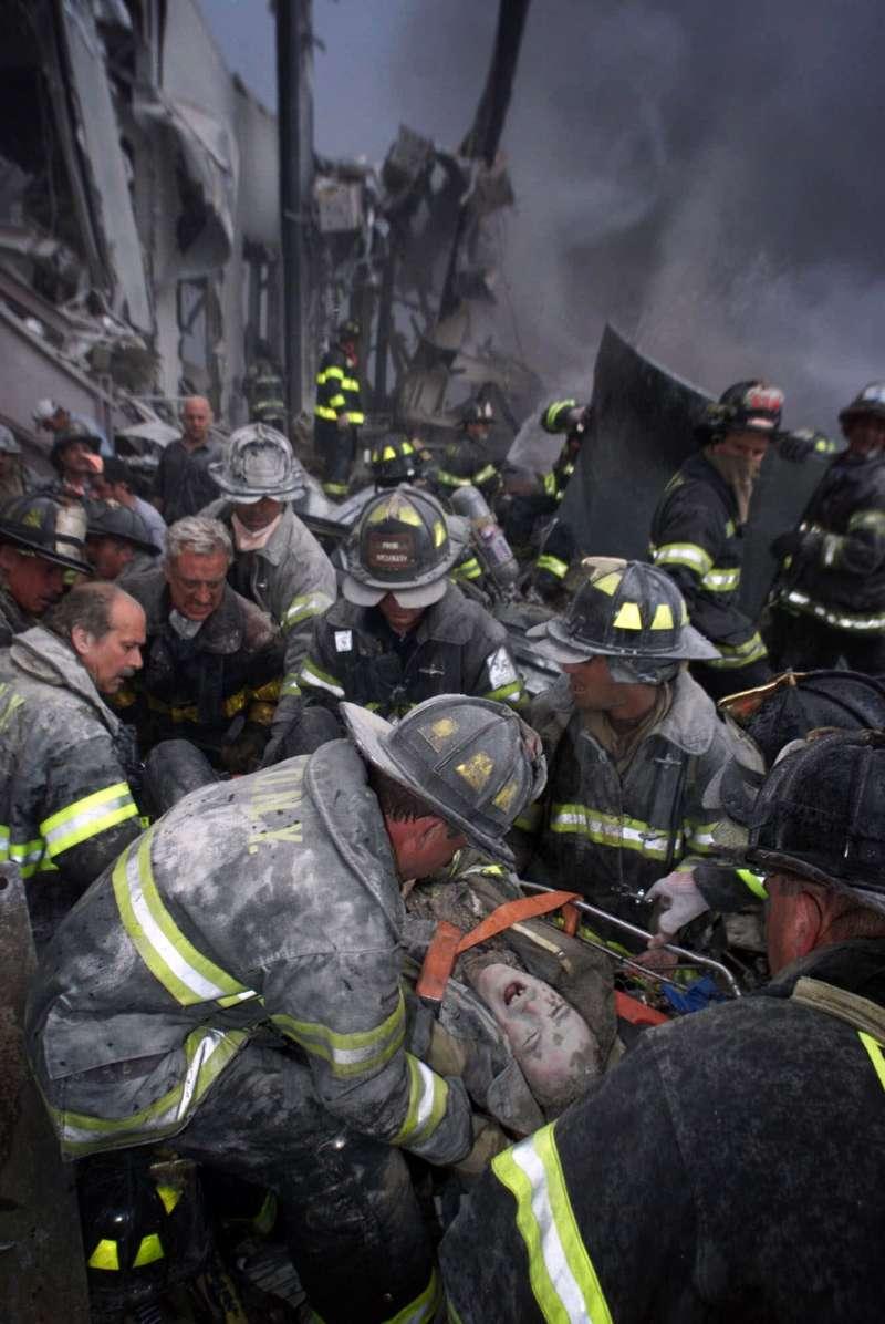 2001年9月11日,紐約,九一一恐佈攻擊事件(AP)