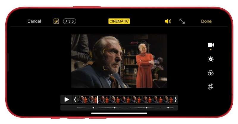iPhone 13強調強大的電影級攝影能力(圖片來源:Apple官網)