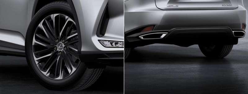 RX 300 曜黑時尚版 20 吋燻黑鋁圈、燻黑前後保桿下方導流(圖 / LEXUS 官網)