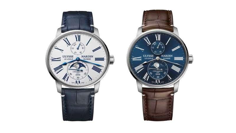 航海系列領航者月相腕錶(圖/ULYSSE NARDIN提供)