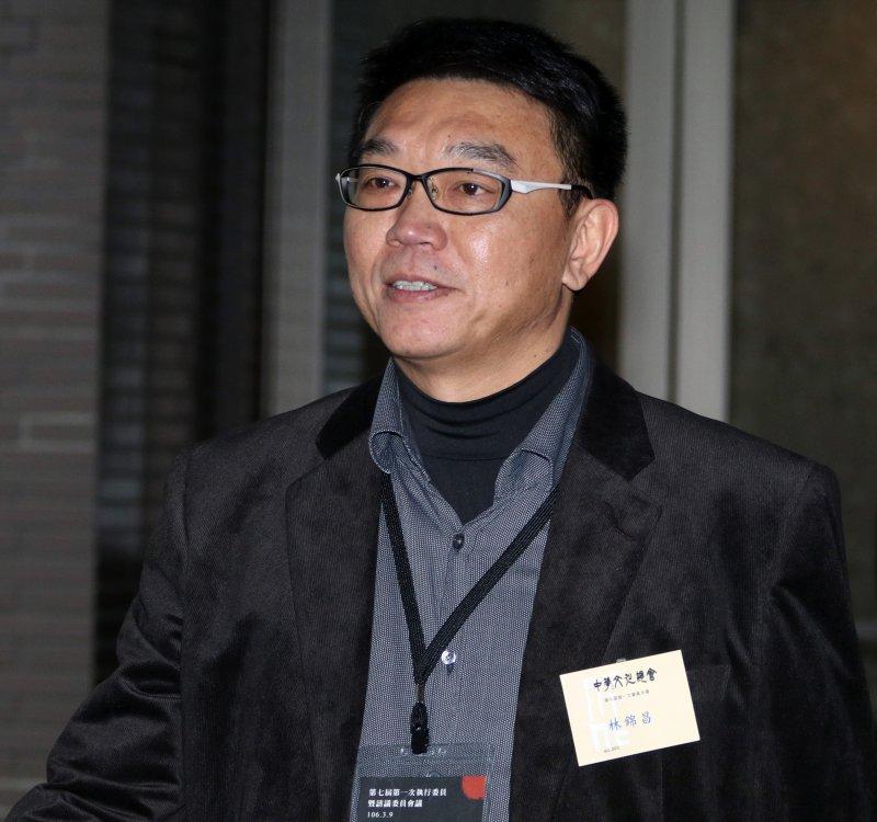 20170309-中華文化總會下午召開第七屆第一次會員大會。圖為文化總會秘書長林錦昌。(蘇仲泓攝)
