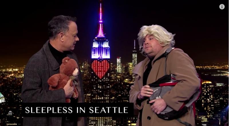 《西雅圖夜未眠》經典場景。