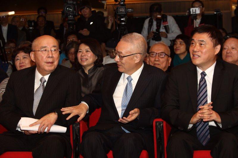 20170113百年大黨,十年風雲新書發表會,吳伯雄、吳敦義、郝龍斌出席。