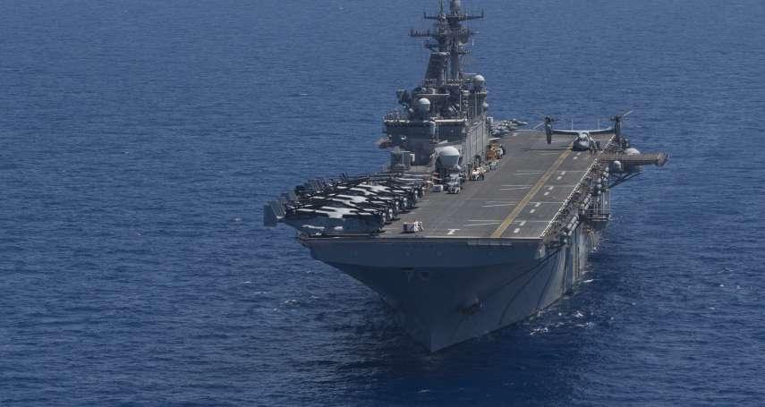 美軍小航母來了!兩棲突擊艦黃蜂號駛入佐世保港,可搭載F-35B匿蹤戰機