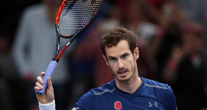 網球》前球王莫瑞因傷所苦 澳洲網球公開賽後可能退休