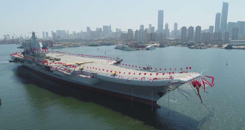 中國首艘自製航母編隊航經台灣海峽!美國、日本派艦尾隨