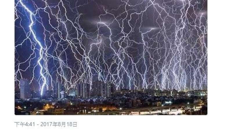 日本狂傳靜岡縣閃電交加照 遭網友踢爆「假的啦!」