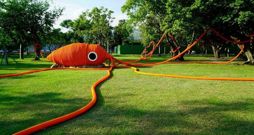 打卡新聖地!草皮出現海怪、甜甜圈泳圈和浮球?原來此地曾是「這條河」的一部分…