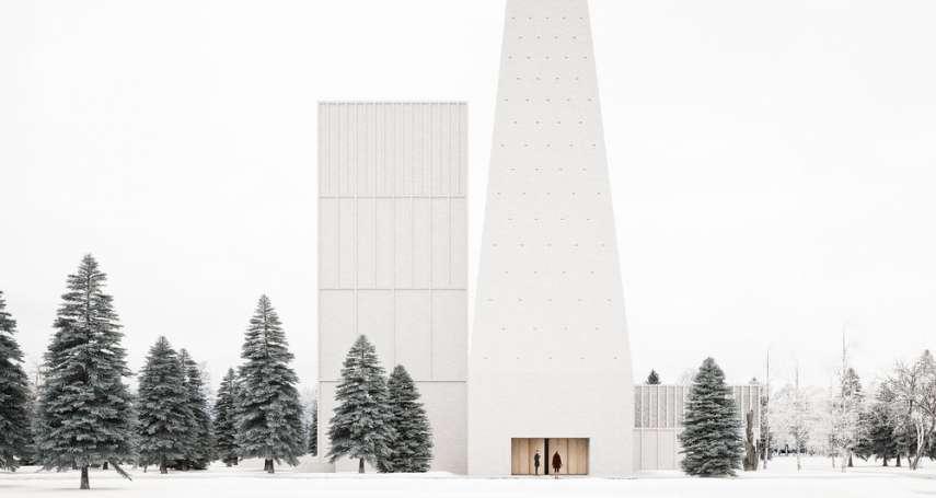 潔白尖塔矗立雪地,內部設計更是令人讚嘆!進入這般純粹空間,再浮躁的人都能靜下心…
