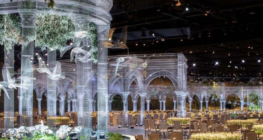 史上最夢幻的婚禮場地!義大利藝術家打造半透明虛幻宮殿,空靈氛圍有如置身仙境!