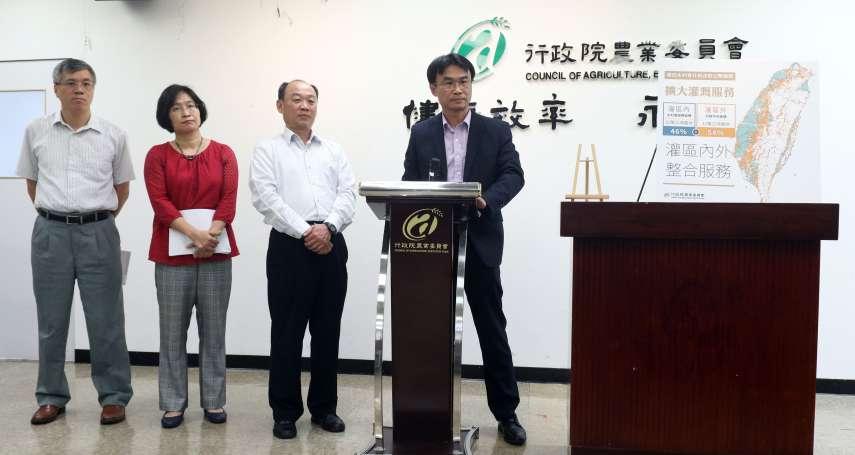 陳吉仲:農委會長期短編水利預算,導致全台10萬公頃土地廢耕