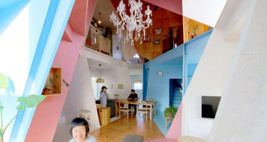 外表看似普通公寓,內部卻讓人超驚豔!東京小屋大玩創意,超酷幾何空間令人嘆為觀止!