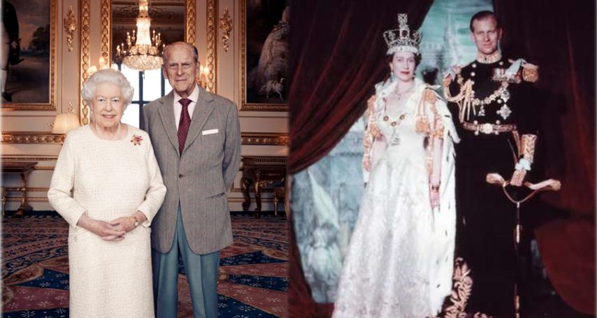 英國女王結婚70周年 與菲利普親王甜蜜合影