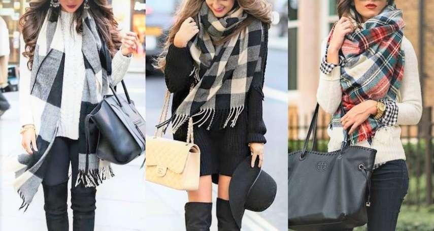 圖解》入冬最強冷氣團報到!快學超實用5種時尚圍巾打法,出門包緊緊也超有「明星感」