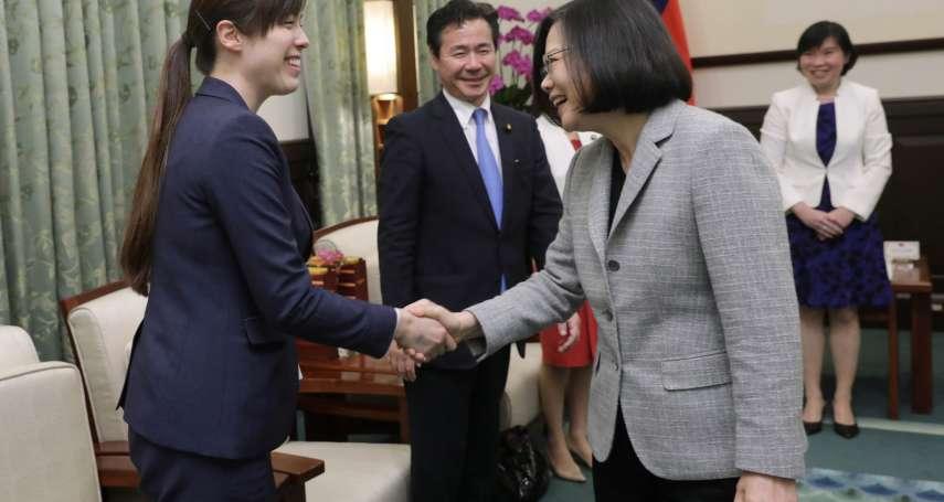 「新的一年台日關係能有新進展」蔡英文接見日本參議員許新願