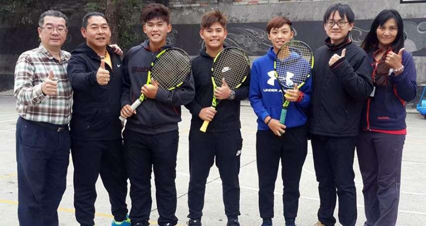 私校兄弟技冠亞洲 ITF國際網球錦標賽奪雙打冠軍