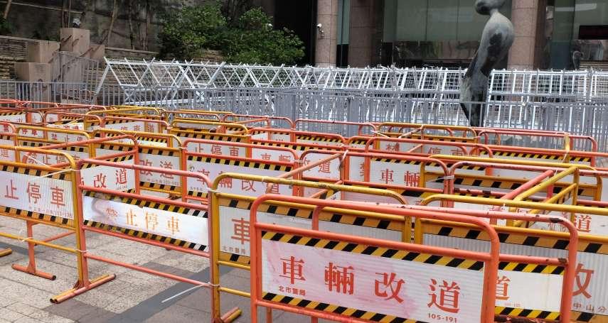 20張照片看台北最狂「拒馬大展」!勞基法三讀前夕 勞動部、政院、立院、官邸全包滿