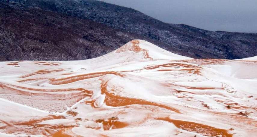 40年來第三次!撒哈拉沙漠罕見降雪 沙丘成銀白世界