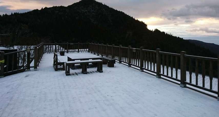 寒流發威啦!全台低溫下探7度,玉山、太平山積雪最厚達4公分