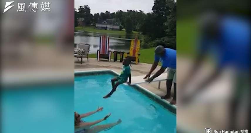 【影音】世界上最遠的距離是你就在我腳下,我卻不敢跳!勇敢小男孩克服跳水恐懼,成功完成人生第一跳