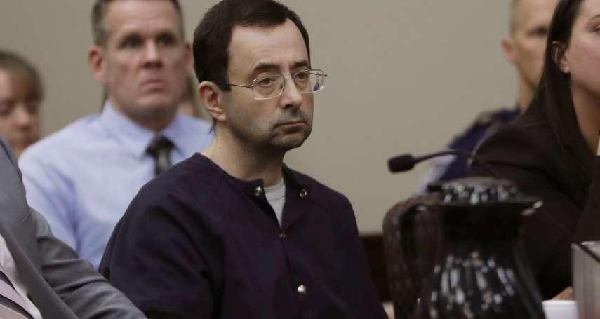 156位受害者陳述遭性侵夢魘!美國奧運體操隊色魔隊醫重判175年 法官:這是你的死刑