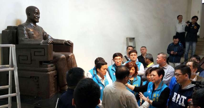基市警局蔣公銅像引爭議 藍議員抗議警局未保持行政中立
