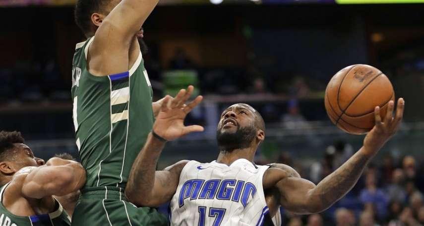 NBA》字母哥第21次30分救不了公鹿 魔術雙衛飆67分止敗