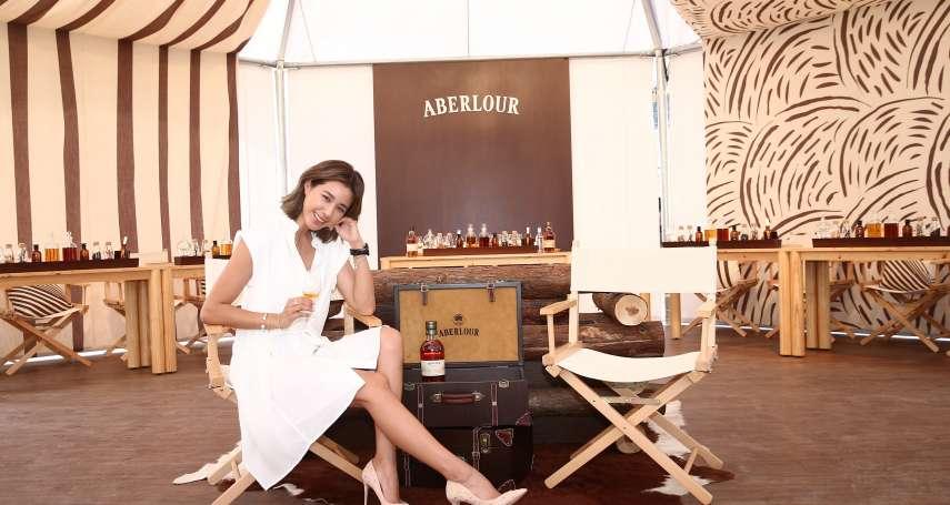 「威士忌就像人一樣,相處過後才能明白他的特色...」名模Angelina 用行動證明自己的本事
