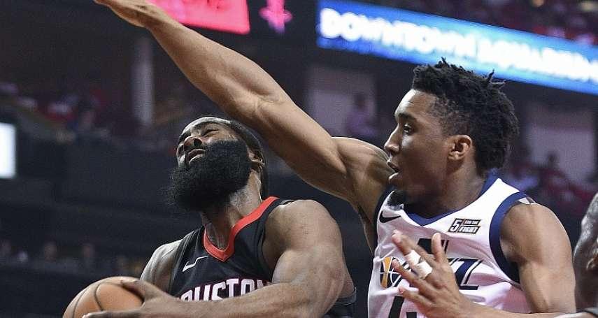 NBA季後賽》米契爾吹爵士樂 火箭失準吞敗