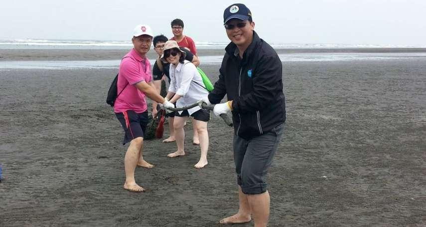 環保艦隊出動 嘉義外傘頂洲清除海洋垃圾
