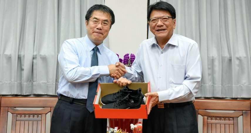黃偉哲拜會潘孟安 區域共治邁出第一步