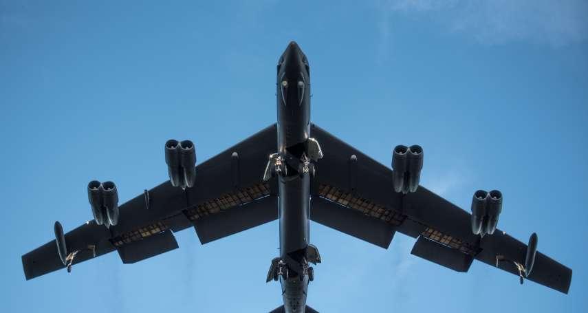 台灣關鍵選舉前夕》美軍B-52戰略轟炸機 飛臨南海爭議島嶼「例行訓練」