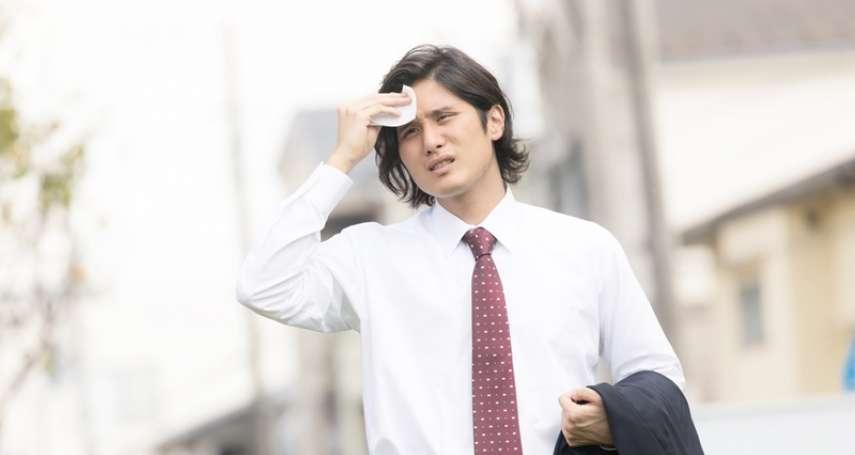 夏天動不動就大爆汗,還體臭熏天…小心是自律神經失調惹的禍!快學「這招」來改善