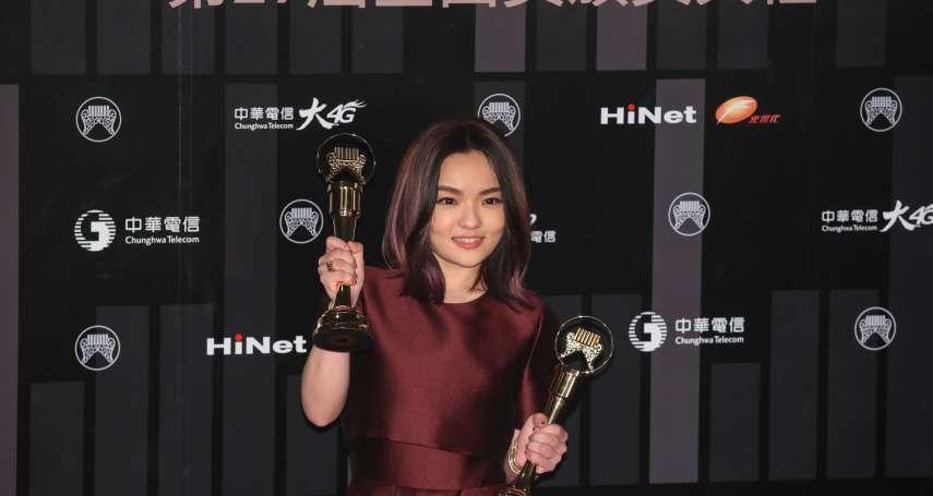 金曲獎》國語歌后徐佳瑩「靈魂有點出竅」 當場與男友比爾賈擁吻