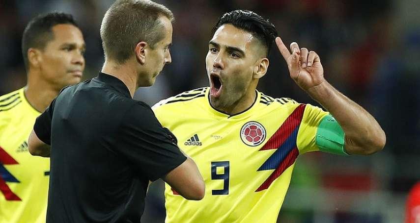 世足》英格蘭靠犯規贏球? 哥倫比亞隊長法爾考認為裁判偏袒