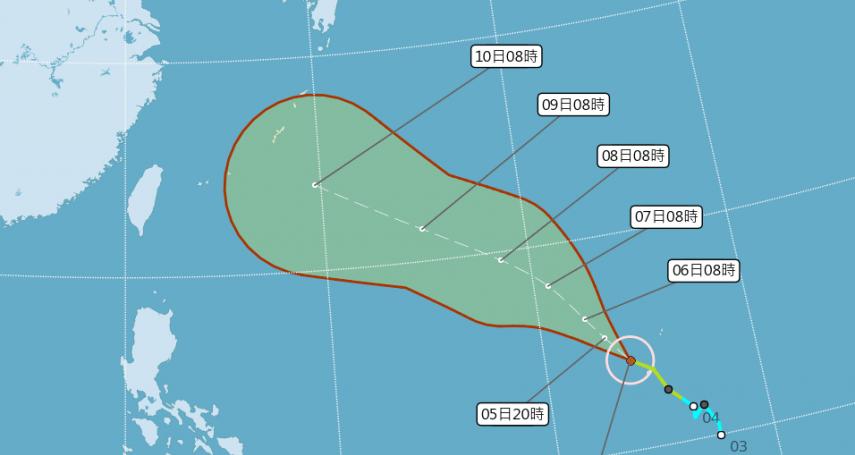 瑪莉亞最快今成中颱 下週二最接近台灣