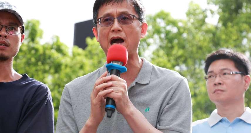 上百大貨車環保署前抗議《空污法》自救會代表:若不撤回修法,應無息貸款協助汰換
