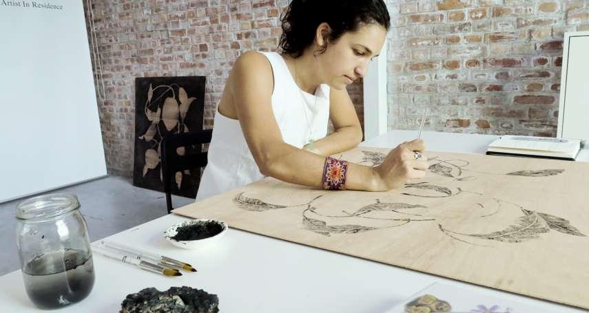 阿根廷藝術家駐村駁二 採集自然素材創作台灣之美