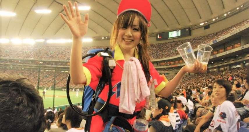 東京巨蛋最美的風景!日媒深入追蹤「啤酒女孩」一日工作量,發現這工作真的不是人幹的…