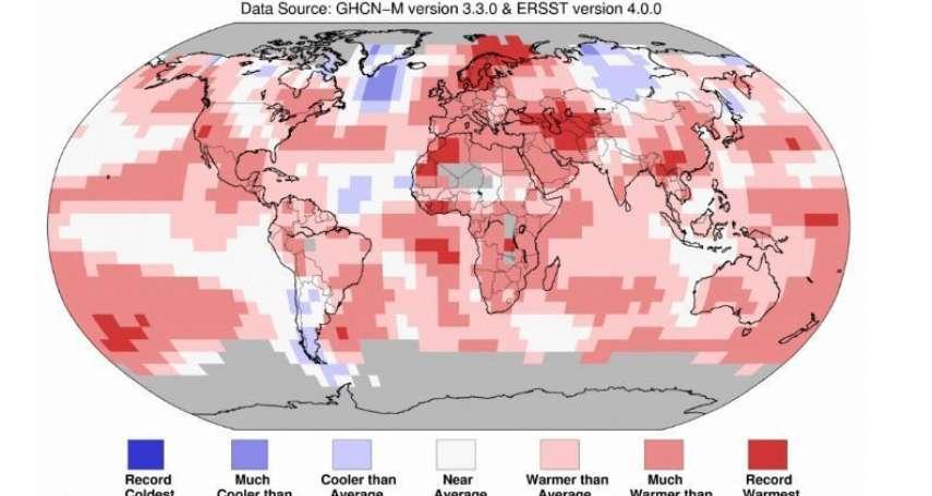 全球7月爆熱!鄭明典:自1880年來全球第4高溫