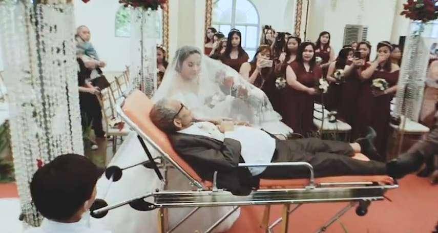 感動全場!癌末爸爸牽女兒的手走紅毯 完成最後任務3天後安心離世