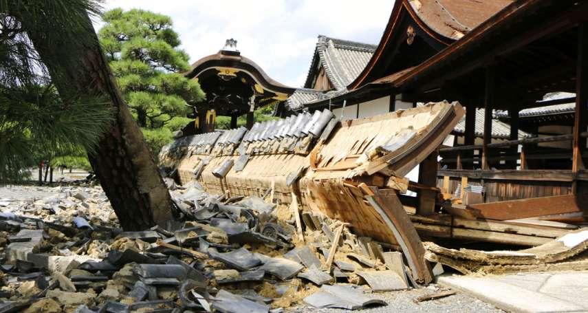 強颱燕子重創西日本 京都奈良多處寺院神社一片狼籍