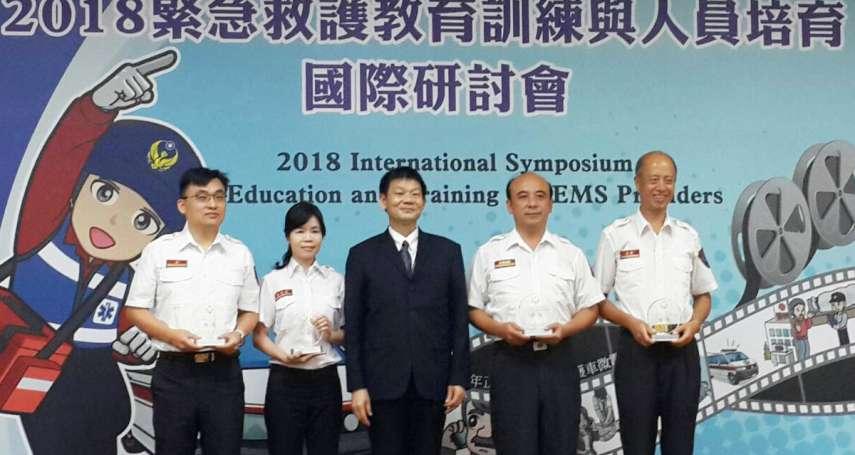 生命補手技高一籌 竹市消防局救護員奪全國團體丙組第一