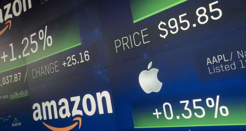風數據》地表最強的四大科技龍頭有多大?1家蘋果的市值就占台灣股市9成